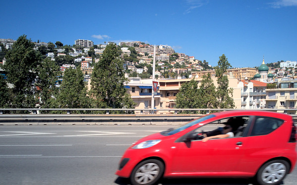 On the road through Nice
