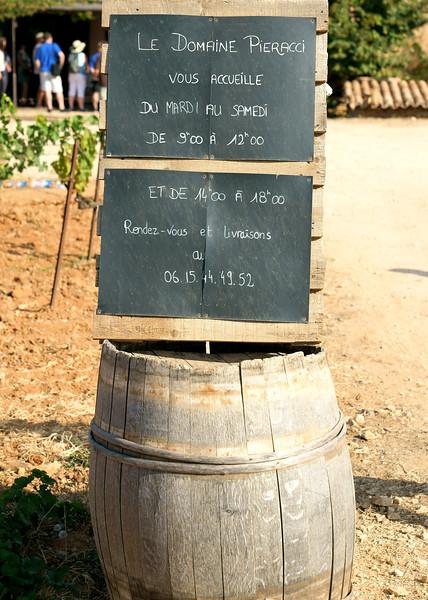 Le Domaine Pieracci... a small winery