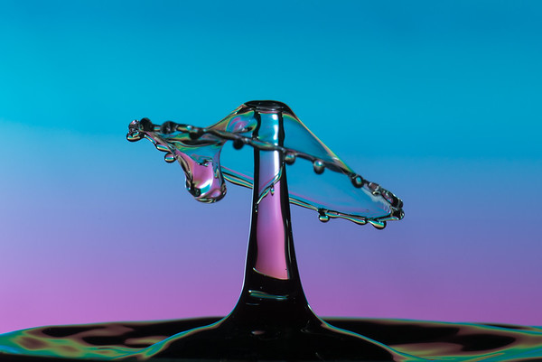 Water drop collision