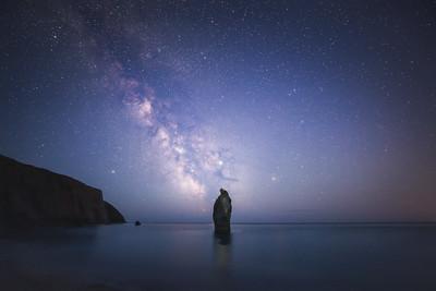 Sea stack at Night, Celtic Sea