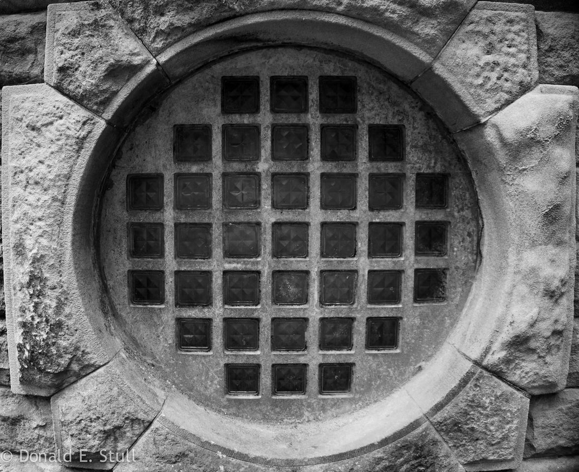 Pump house window. Grindleford, UK