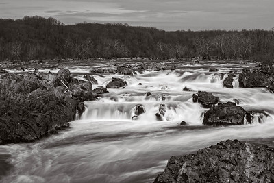 Slow Exposure:  Great Falls, Virginia, Potomac River