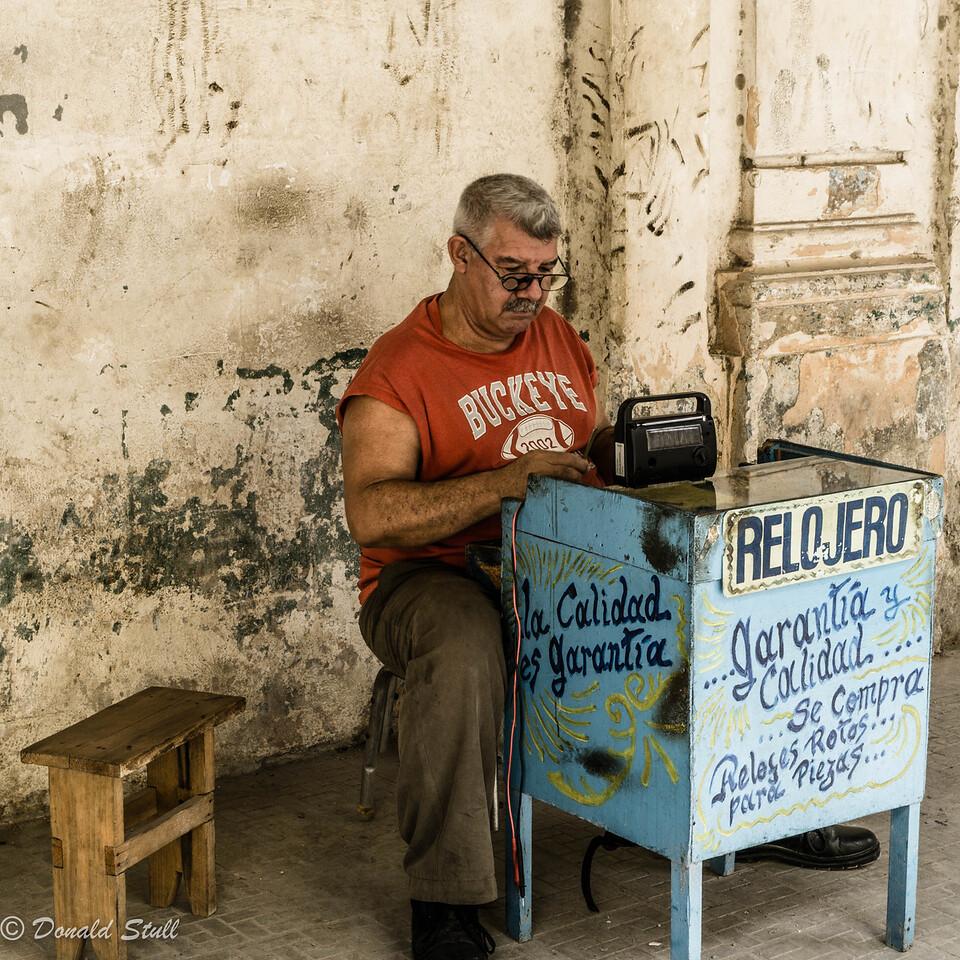 The watchmaker.  Havana, Cuba