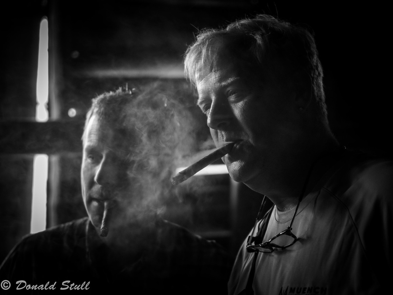 Enjoying a cigar, Concha and Paco Hernandez family farm, Viñales Valley, Cuba