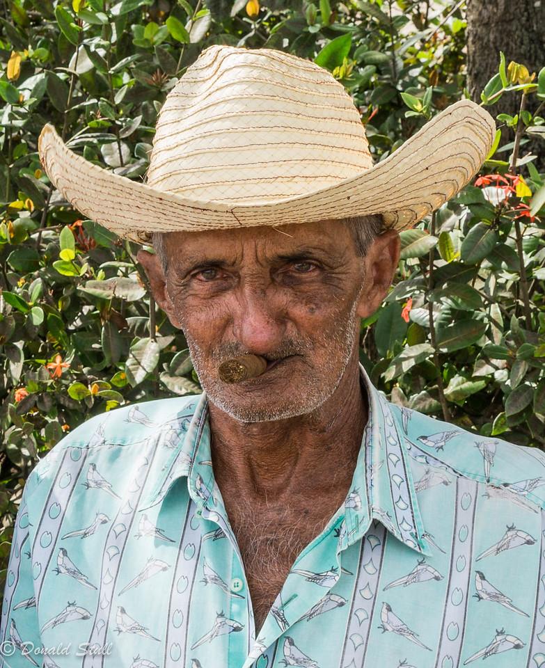Male model.  Viñales, Cuba