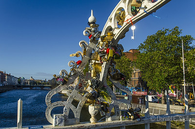 """Love Locks,"" Ha'penny Bridge, River Liffey, Dublin"
