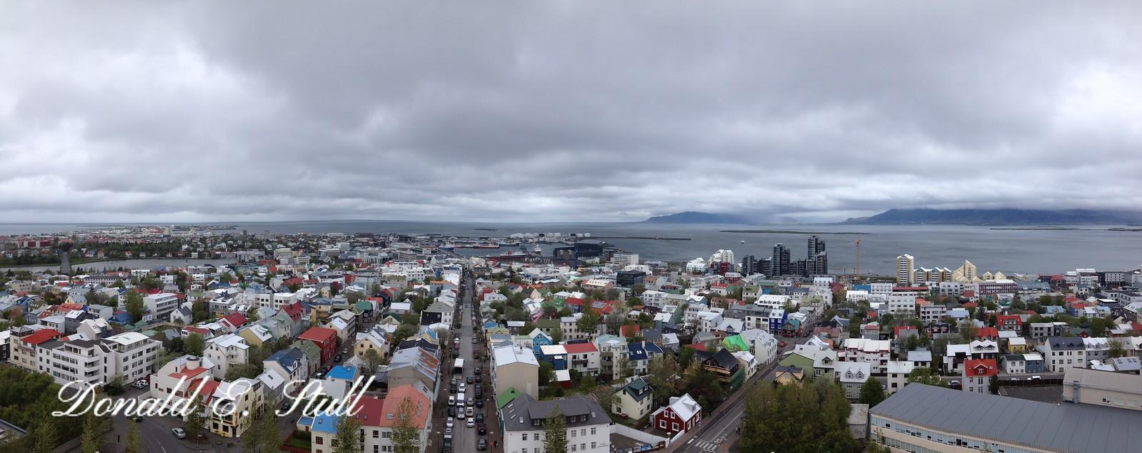 Downtown Reykjavik, from the top of Hallgrimmskirkja