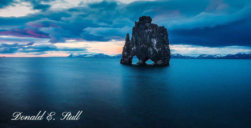 Hvitserkur, at sunset