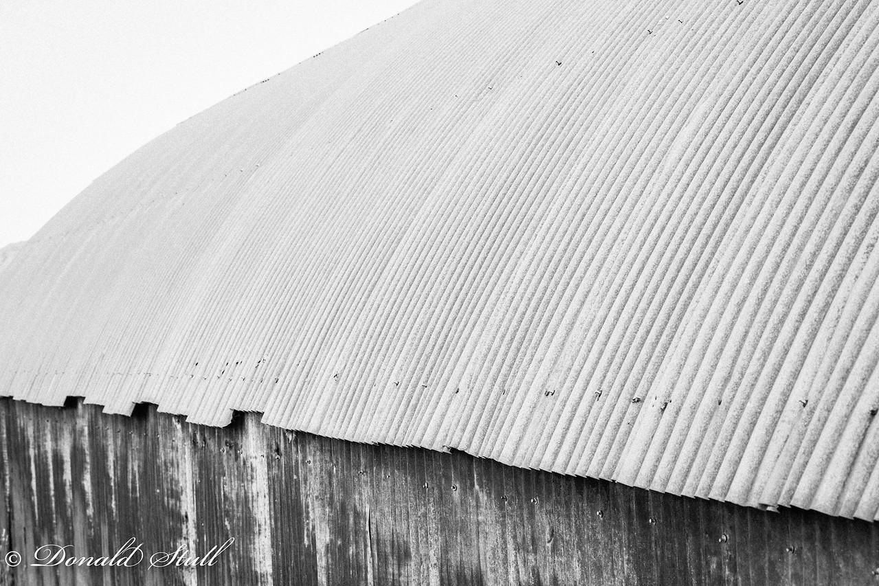 Corrugated metal barn, Lake Myvatn.