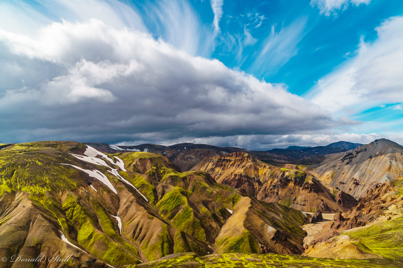 View from the top.  Landmannalaugar.