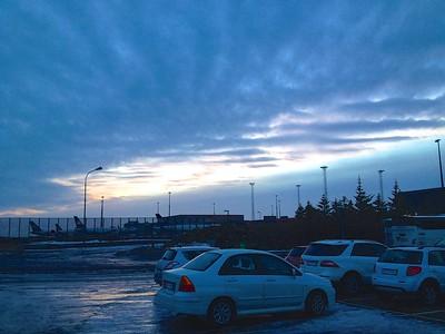Sunset (320PM) Keflavik airport