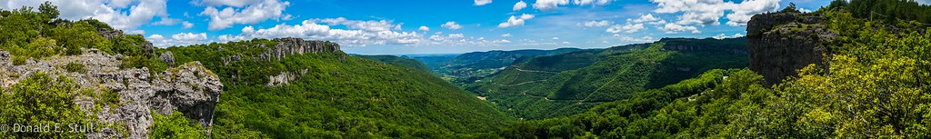 The view over Laroux and Poujols, Languedoc-Rousillon, South of France