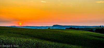 Sunset, Les Rives, Poujols/Lodeve, Languedoc-Rousillon, South of France