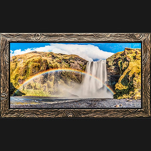 Acrylic Print with Custom Chainsaw-Cut Frame