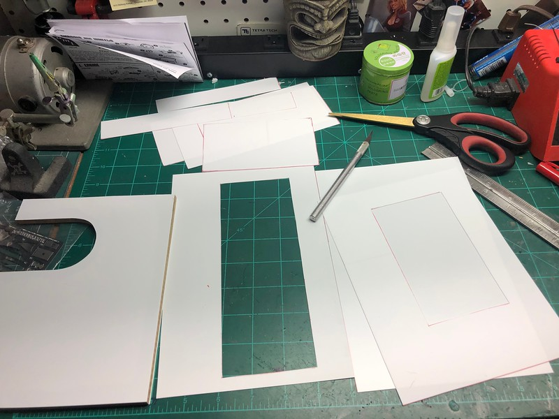 WALLS FOR THE T-SHIRT SHOP ARE ALL CUT
