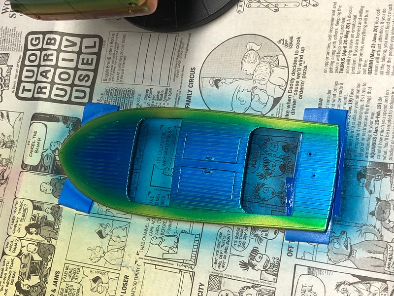 Kustom speed boat will go in the shop