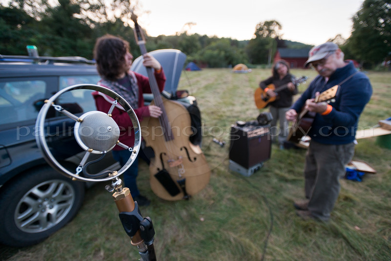 Musicians Set up for the Bonfire Jam