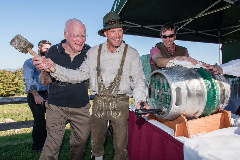 Senator Patrick Leahy & Sam von Trapp at Oktoberfest, for Trapp Family Lodge