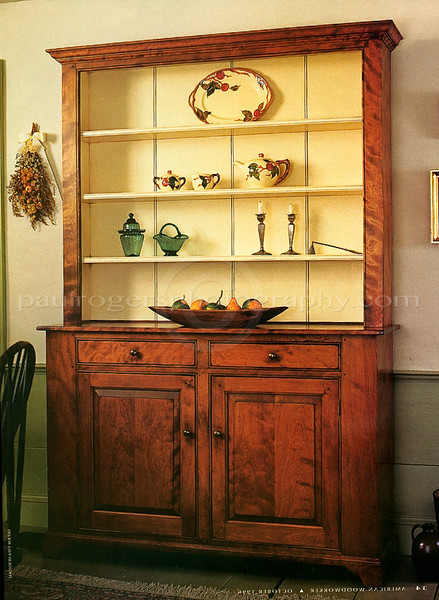Matthew Burak Reproduction Cabinet for American Woodworker Magazine