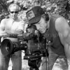Patrick and Rusty on video set, Central Park, NYC