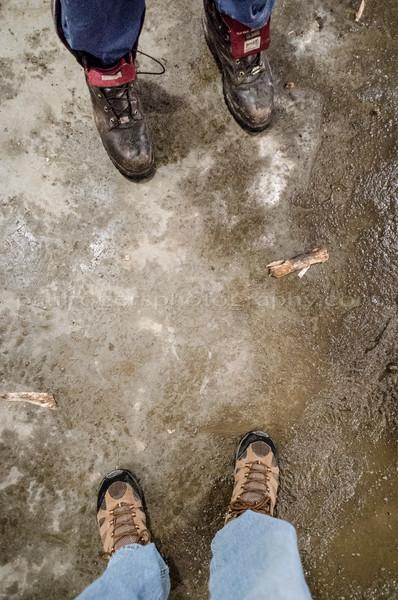 My feet, Rusty's feet