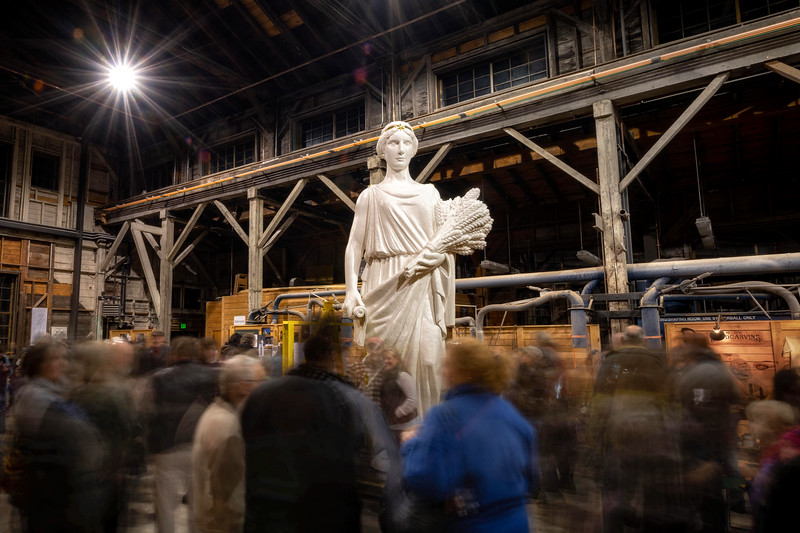 Agriculture Statue party at the Vermont Granite Museum of Barre, November 26, 2018.