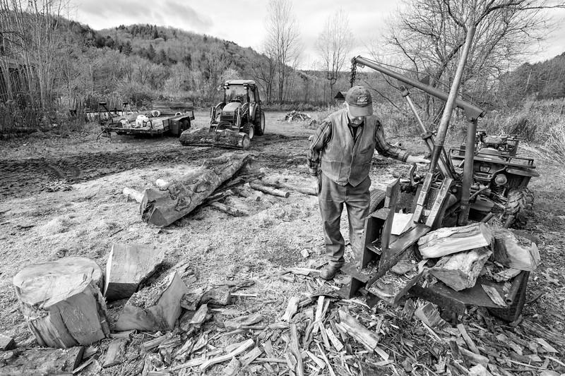 Splitting Firewood, Wolcott, 2019