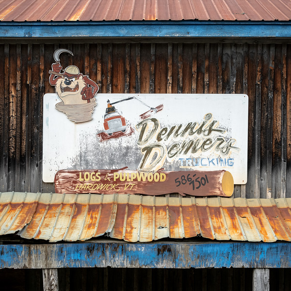 Trucking Business Sign, East Hardwick, 2019