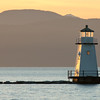 Breakwater and Lighthouse on Lake Champlain, Burlington, 2010