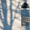 Shadows on Old Goshen Church, Bradford, 2014