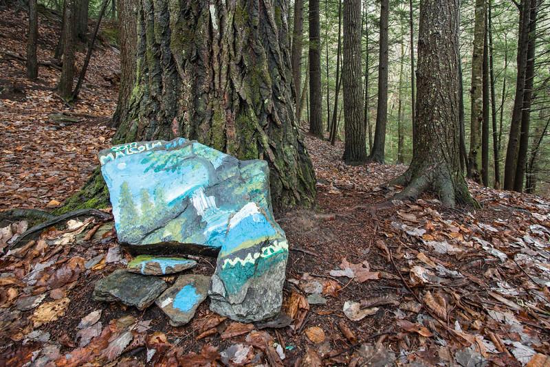Memorial Painting on Rocks, Stowe, 2014
