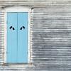 Blue-Shuttered Window, East Clarendon, 2014