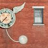 Wall Clock and Lamp Shadow, Charlotte, 2014