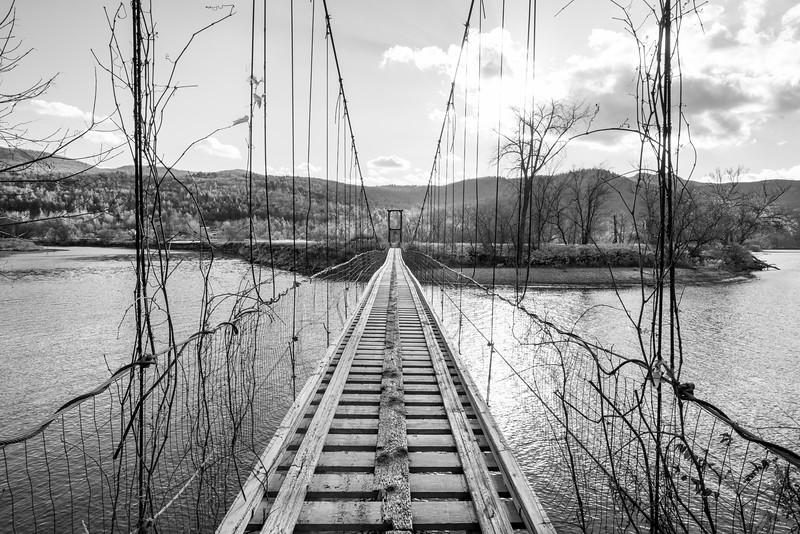 Snowmobile Bridge over Winooski River, Waterbury & Duxbury, 2014