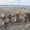 Beachstone and Driftwood Sculpture, Charlotte, 2014