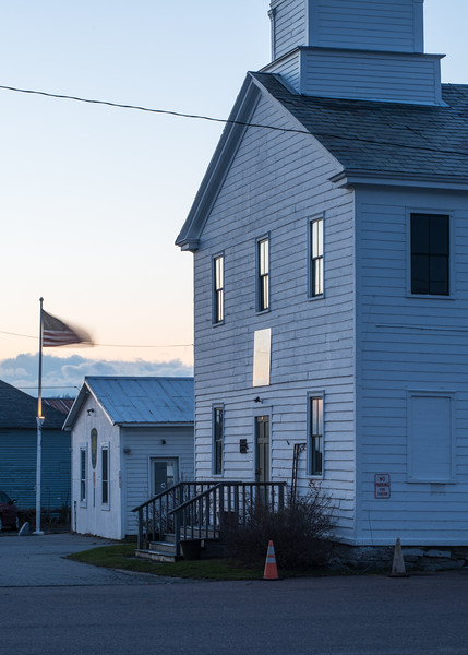 Former Meeting House and American Flag, South Hero, 2014