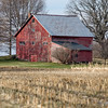 Red Barn and Cornfield, Charlotte, 2014