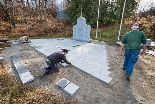 Construction of Veterans' Memorial, Williamstown, 2015