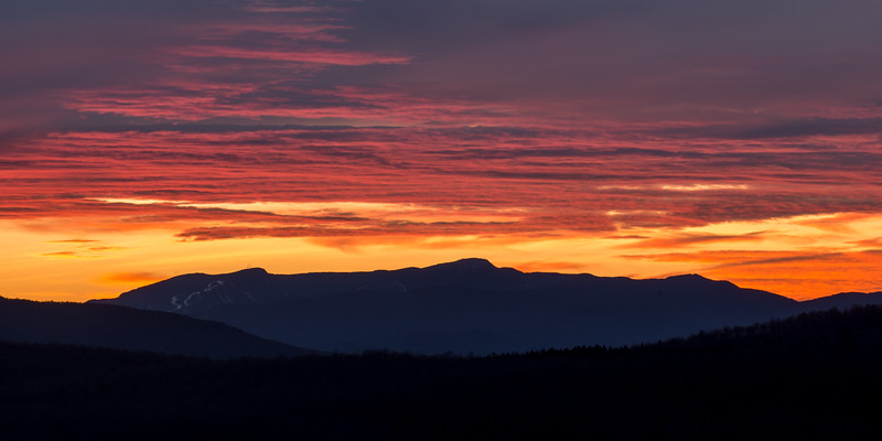 Mount Mansfield at Sunset, Hardwick, 2016