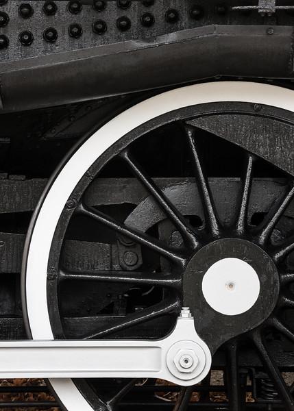 Locomotive Wheel at Shelburne Museum, Shelburne, 2016