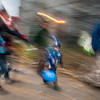 Halloween Celebrants (motion blur), Montpelier, 2017