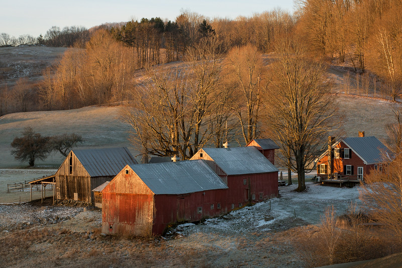 Jenne Farm at Sunrise, Reading, 2017