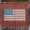 U.S. Flag Mural on Barn Door, Stamford, 2017