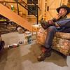 Rusty DeWees In His Barn, Elmore, 2017