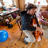 Patrick Ross in His Living Room, Newbury, 2017