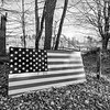 American Flag on Wood, Hartland, 2017
