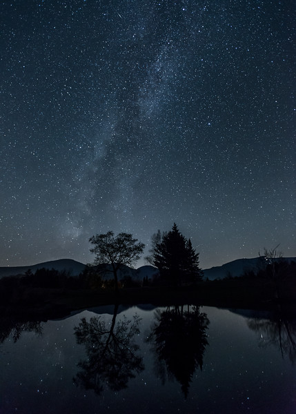 Night Sky in the Green Mountains, Stowe, 2017