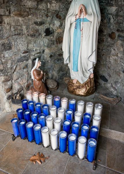Prayer Grotto at St. Anne's Shrine, Isle La Motte, 2017