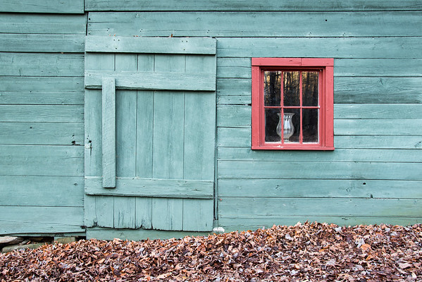 Refurbished Sugarhouse with Red Window, Stowe, 2013