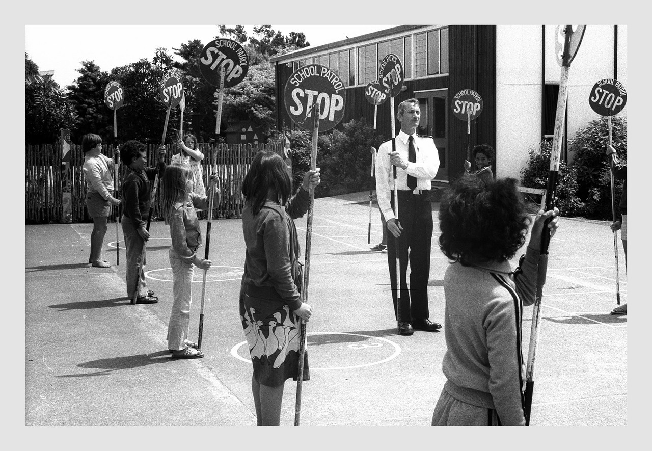 School Patrol New Plymouth.  c1982